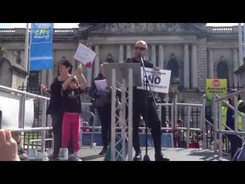 John Carmody Speaks at Northern Ireland Animal Cruelty Rally 2014