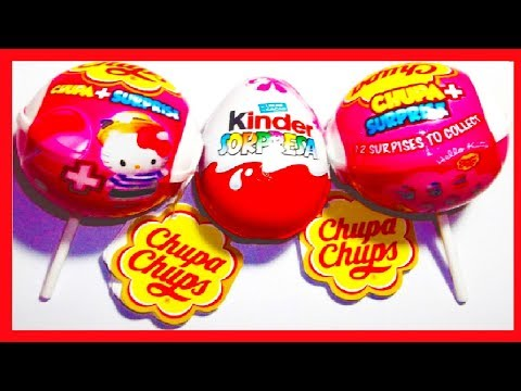 3 SORPRESAS. 2X CHUPA CHUPS HELLO KITTY Y HUEVO KINDER PRINCESAS DISNEY COLECCIÓN 2013. SURPRISE EGG