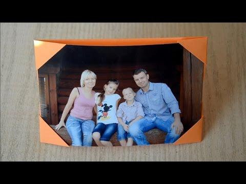 Фото рамка оригами