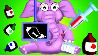 Jungle Doctor | Kids Learn How to Take Care of Safari Animals | Education Cartoon Game