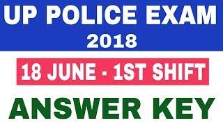 UP POLICE 18 JUNE EXAM ANSWER KEY || UP POLICE EXAM ANSWER KEY