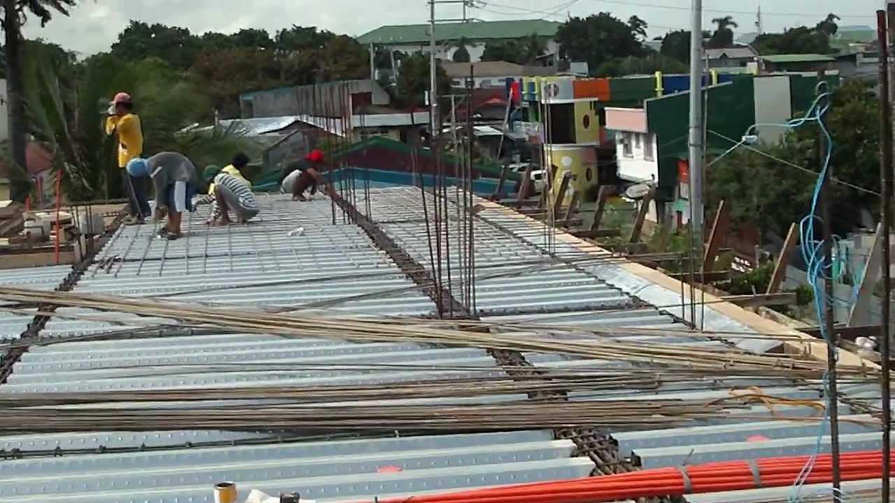 Steel Decking Slab : Steel decking th floor roof slab youtube