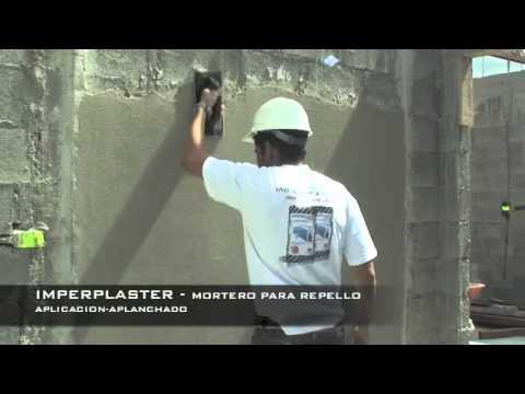 Imperplaster mortero para repello youtube - Como poner molduras de escayola ...