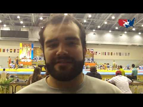 Wyatt Baker after the 2012 Junior Worlds