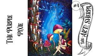 How to Paint a Purple Pixie Big art quest Fairytale #4
