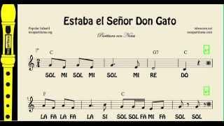 himno cancion estaba senor don gato: