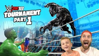 Black Panther vs Hulk! WWE 2k18 Game Tournament Avengers Match #1!