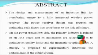 Achieving Optimal Efficiency in Energy Transfer   Final Year Projects 2016 - 2017