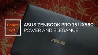 Asus Zenbook Pro 15 UX580: Power and Elegance