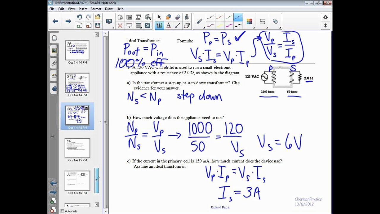 Transformer Physics Problems Transformers ib Physics