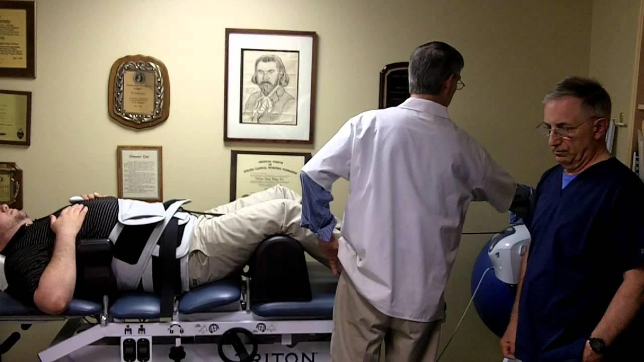 chiropractor machine on tv