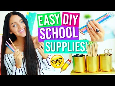DIY BACK TO SCHOOL SUPPLIES 2016! Notebook, Pencils, Organizational Room Decor + more! Fun & Easy!