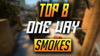 TOP 8 ONE-WAY SMOKES ON MIRAGE - CS:GO (2018)