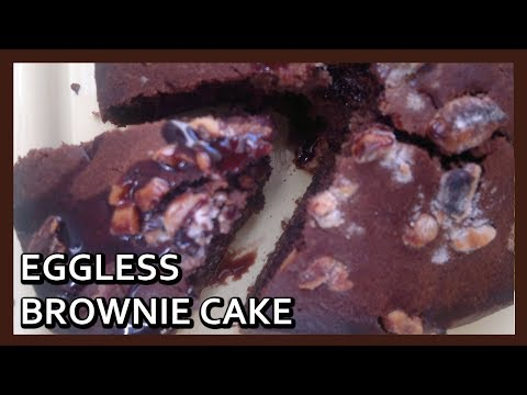 Eggless Brownie Cake baked with Philips Airfryer by Healthy Kadai