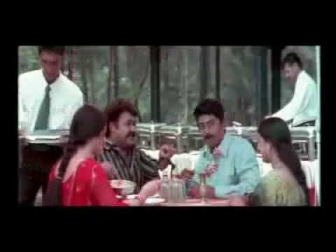 Malayalam Film Comedy - Mohanlal Restaurent Scene In Hello video