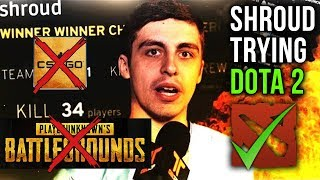 Shroud CS:GO and PUBG Best Player Trying Dota 2 + with EPIC Gameplay Megacreeps Comeback