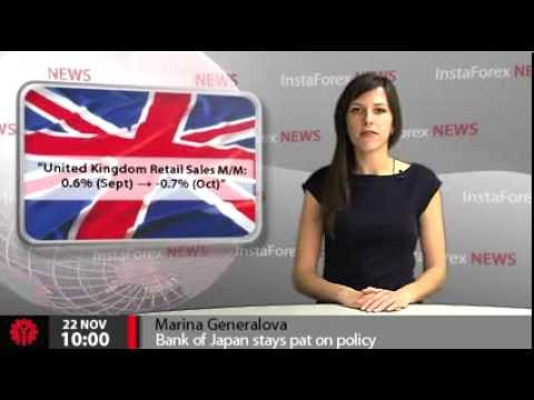 InstaForex News 22 November. Bank of Japan stays pat on policy