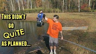 RC Car Driving Across Lake ( Epic Fail )