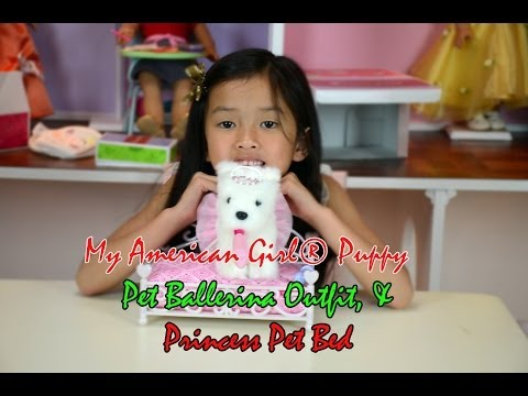 My American Girl® Puppy, Pet Ballerina Outfit, & Princess Pet Bed