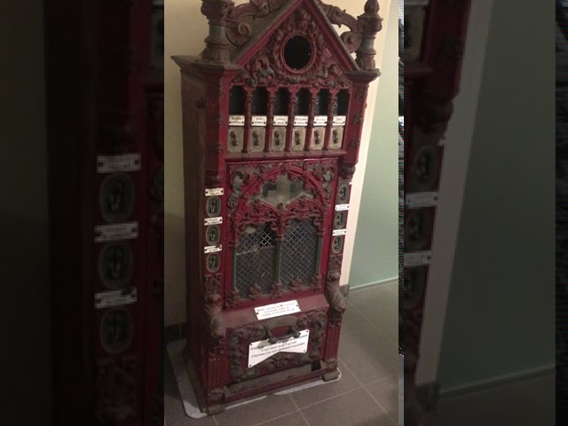 Merkur chocolate vending machine from the 1880's