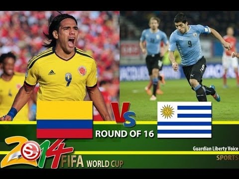Football WC 2014 Colombia 2 - 0 Uruguay Goals Highlights