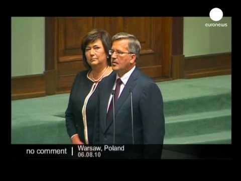 Bronislaw Komorowski Sworn In as Poland's new president - no comment