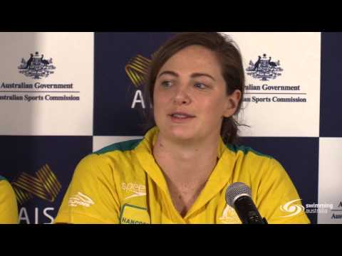 Swimming Australia press conference on late night Olympic swimming prep