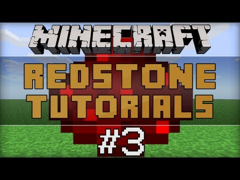Redstone Tutorials E03: Redstone Locks, Comparators And T-Flip Flops
