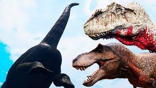 O Puertassauro Abandonado! Manada de Triceratops, Ameaça aos Carnívoros   The Isle   (PT/BR)