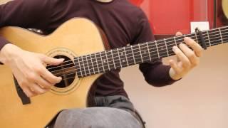 """ひまわりの約束 STAND BY ME - DORAEMON """"Guitar Solo"""" (Tutorial + Tab)"""