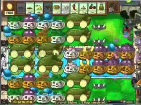 Plants vs zombies survival endless strategy part 1 online