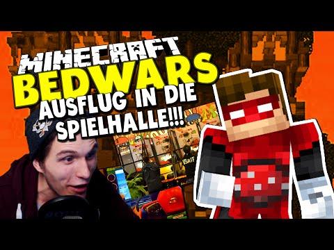 AUSFLUG IN DIE SPIELHALLE! Wir schießen auf ALIENS ✪ Minecraft Bedwars Tag 42 mit Rotpilz