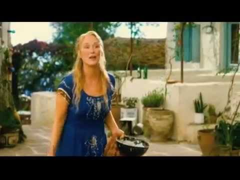 Pierce Brosnan and Meryl Streep sing