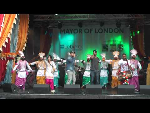 3 Best Punjabi Bhangra Music Dance At Vaisakhi 2014 Trafalgar Sq London video