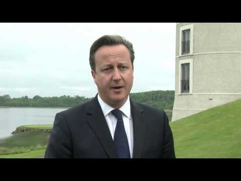 G8 Summit: David Cameron speaks about agenda and priorities