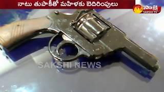 Man Warning to Women with Gun in Vijayawada | Arrested