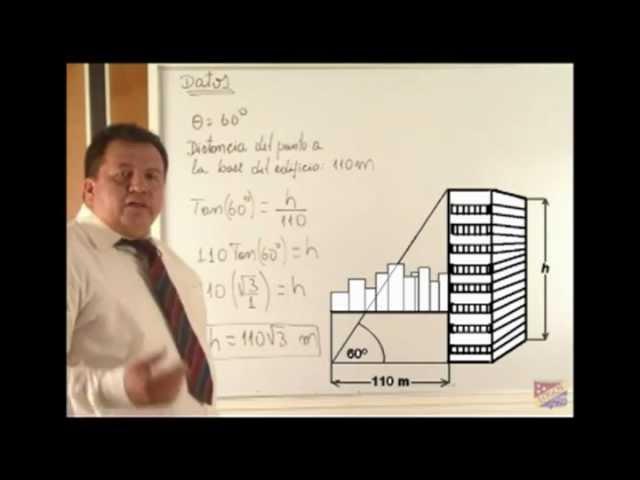 Razones trigonométricas en el triángulo rectángulo - Problemas y aplicación
