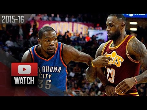 LeBron James vs Kevin Durant EPIC Duel Highlights (2015.12.17) Cavaliers vs Thunder - 58 Pts TOTAL!
