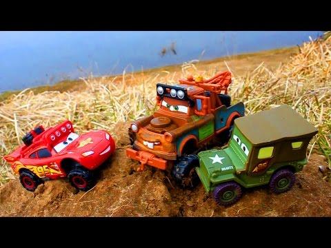 Тачки Молния Маквин Мэтр ищут Край Света Монстр Траки Бездорожье Мультик про Машинки для Детей Cars