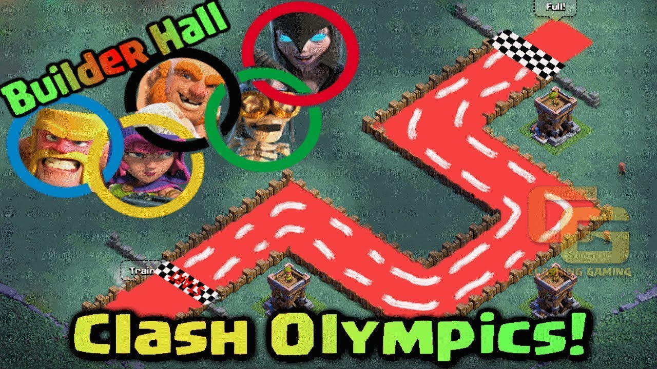 Builder hall Clash Olympics | Troops Race | Who's the Fastest ? - Clash Of Clans