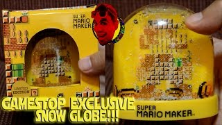 GameStop Exclusive: Super Mario Maker Snow Globe! {LIMITED EDITION} {UNBOXING}