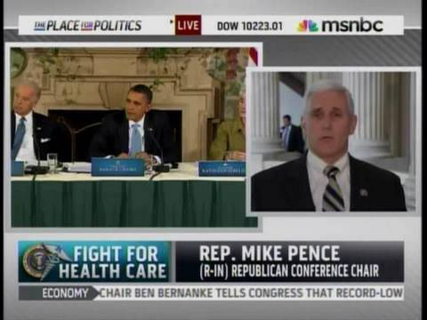 Pence: WH Health Summit Isn't Good Government, And Is Bad TV - 2-25-2010 on MSNBC
