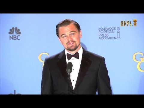 Leonardo Di Caprio: 71st Golden Globes Awards Winner's Press Room