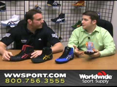 ASICS Rulon Gardner Wrestling Shoes Review by wwsport.com Video