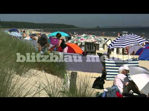 Stock Footage Germany Baltic Sea Beach Ostsee Strand Usedom Rügen Darß Fehmarn Strandkorb Travel