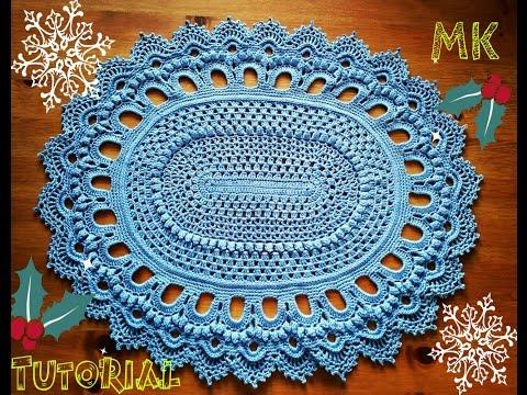 КОВРИК КРЮЧКОМ (1 часть) Rug crochet на tubethe.com