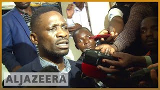 🇺🇬 Ugandan pop star MP Bobi Wine arrested on arrival l Al Jazeera English