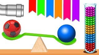 Learn Colors With Soccer Balls Color Balls Balancing Soccer Ball Game Stacking Colors HooplaKidz EP8