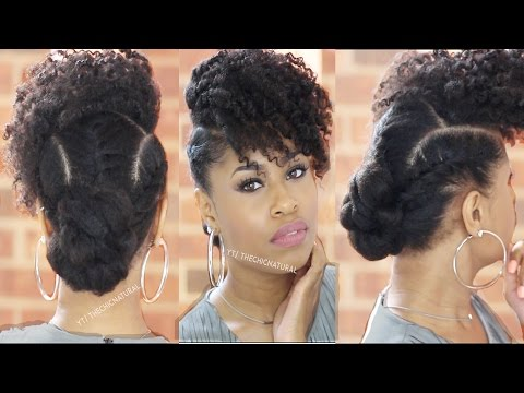 BOSS BANG 'N TWISTED KNOT   Natural Hairstyle