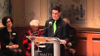 2014 Stop the Hate Grand Scholarship Winner Reads His Essay